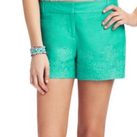 LOFT Pants - LOFT Linen teal embroidered size 4 women's shorts